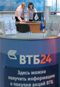 Стоимость акций банка ВТБ 24